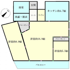 2LDK Apartment in Shibaura(1-chome) - Minato-ku Floorplan