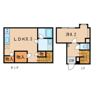 1LDK Mansion in Higashiyama - Meguro-ku Floorplan