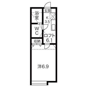 1K Apartment in Hassamu 7-jo - Sapporo-shi Nishi-ku Floorplan