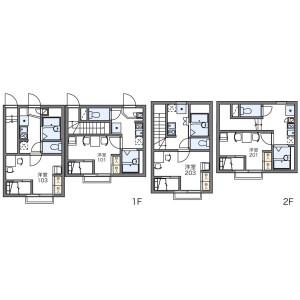 1K Apartment in Higashiyotsugi - Katsushika-ku Floorplan