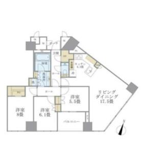 千代田区一番町-2LDK公寓大厦 楼层布局