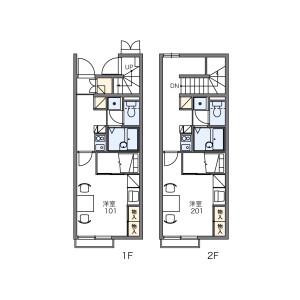 1K Apartment in Habashita - Nagoya-shi Nishi-ku Floorplan
