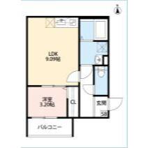 1LDK Mansion in Higashiimazato - Osaka-shi Higashinari-ku Floorplan