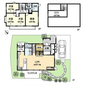 3LDK House in Zaimokuza - Kamakura-shi Floorplan