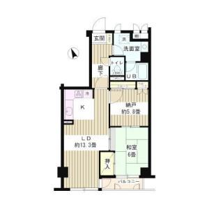 1SLDK Mansion in Nishiwaseda(2-chome1-ban1-23-go.2-ban) - Shinjuku-ku Floorplan