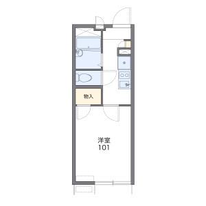 1K Apartment in Tanimachi(6-9-chome) - Osaka-shi Chuo-ku Floorplan