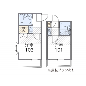 1K Apartment in Chuo - Nakano-ku Floorplan