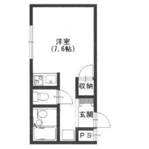 1R Mansion in Chokoji kita - Toyonaka-shi Floorplan