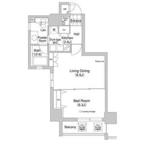 1LDK Mansion in Komazawa - Setagaya-ku Floorplan