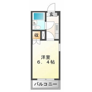 1K Mansion in Naka toacho - Kakamigahara-shi Floorplan