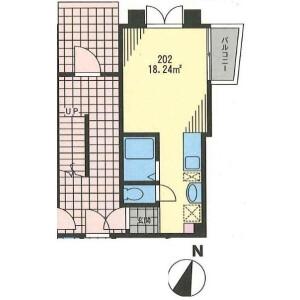 世田谷區三宿-1R公寓 陽台