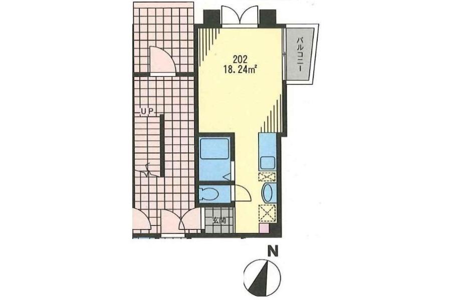 1R Apartment to Rent in Setagaya-ku Floorplan