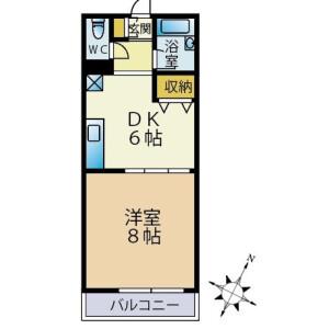 2DK Mansion in Shimomeguro - Meguro-ku Floorplan