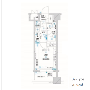 1K Apartment in Sanno - Ota-ku Floorplan