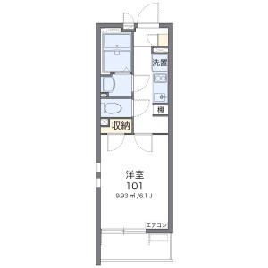 1K Apartment in Horinochicho - Saitama-shi Omiya-ku Floorplan