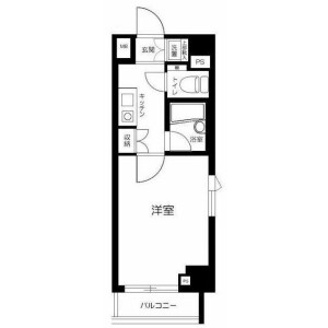 1K Mansion in Shirokane - Minato-ku Floorplan