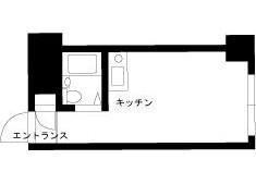 在涩谷区内租赁1R 公寓大厦 的 楼层布局