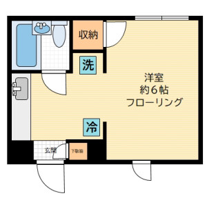 1K Apartment in Shimmachi - Setagaya-ku Floorplan