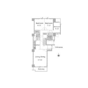 3LDK {building type} in Hiroo - Shibuya-ku Floorplan