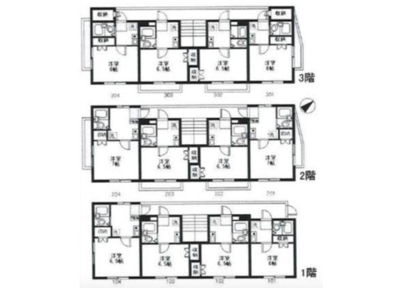 Whole Building Apartment to Buy in Higashimurayama-shi Floorplan