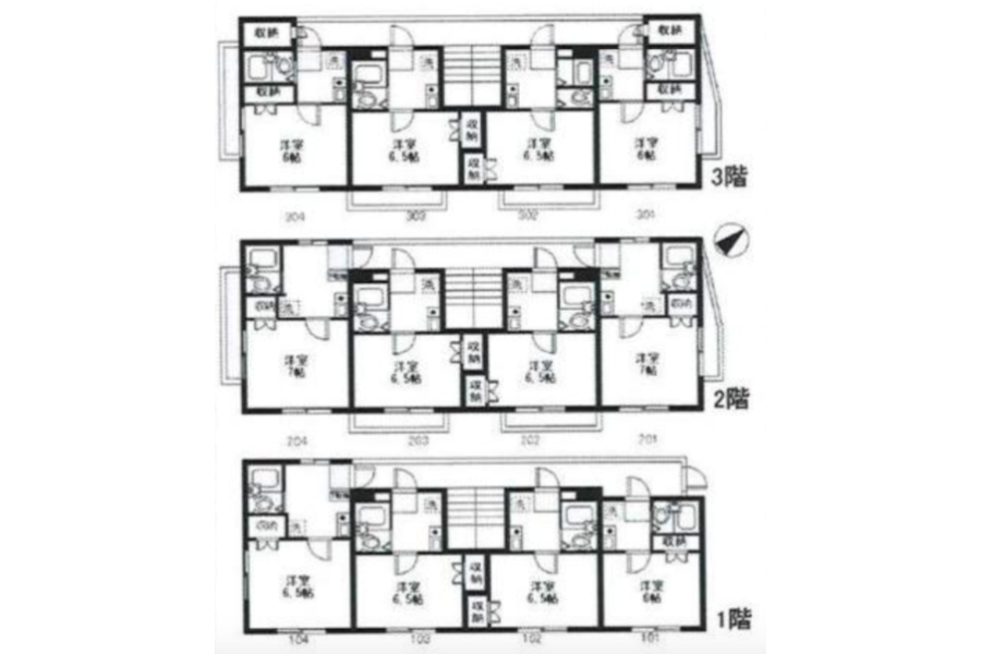 Whole Building Apartment to Buy in Higashimurayama-shi Floorplan