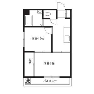2K Mansion in Ohashi - Meguro-ku Floorplan