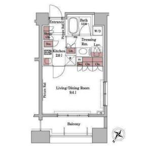港區白金台-1K公寓大廈 房間格局