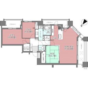 札幌市中央区 南四条西 3SLDK {building type} 間取り
