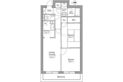 2LDK Apartment to Rent in Adachi-ku Exterior