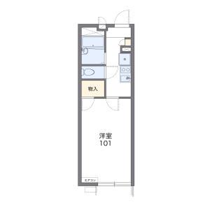 1K Apartment in Sunashinden - Kawagoe-shi Floorplan