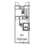 1R Apartment in Higashigaoka - Meguro-ku Floorplan