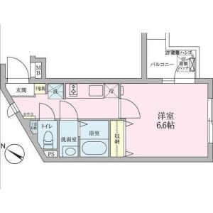 涩谷区代々木-1K公寓大厦 楼层布局