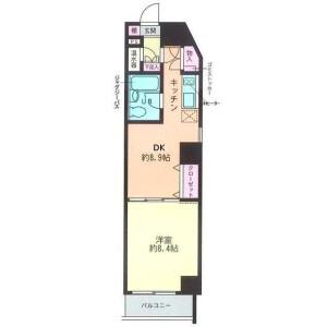 港区白金台-1DK公寓大厦 楼层布局