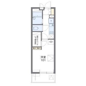 1K Mansion in Akebono - Kashiwa-shi Floorplan