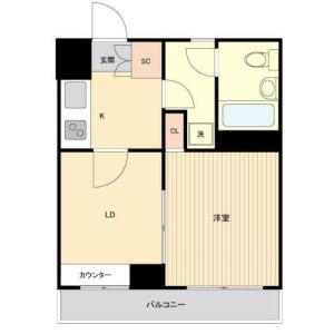 2K Mansion in Hiroo - Shibuya-ku Floorplan