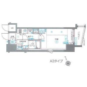 涩谷区恵比寿-1K公寓 楼层布局