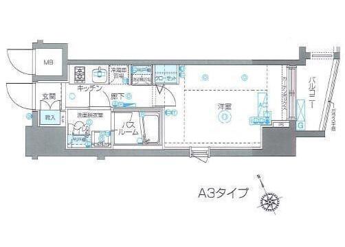 在澀谷區內租賃1K 公寓 的房產 房間格局