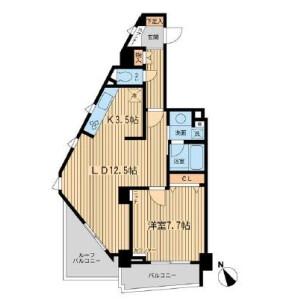 1LDK Mansion in Uehara - Shibuya-ku Floorplan