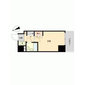 1R {building type} in Motocho - Atsugi-shi Floorplan