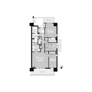 3LDK Apartment in Shimomeguro - Meguro-ku Floorplan