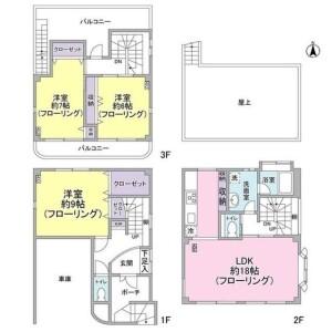 3LDK House in Matsubara - Setagaya-ku Floorplan