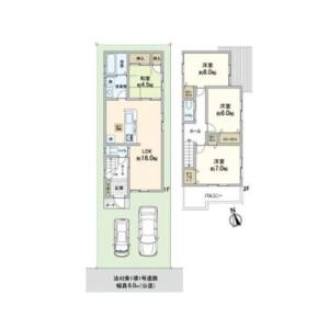 4LDK {building type} in Shimizugaoka - Osaka-shi Sumiyoshi-ku Floorplan