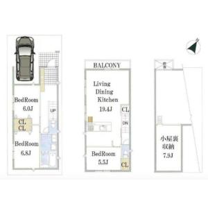 3LDK {building type} in Higashigaoka - Meguro-ku Floorplan