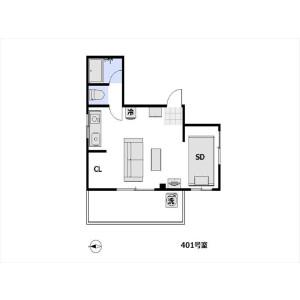1R Apartment in Maruyamacho - Shibuya-ku Floorplan