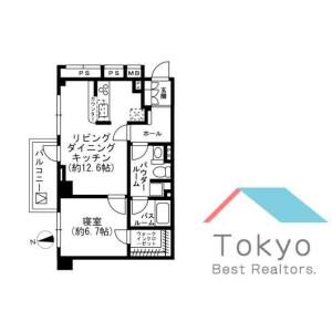 1LDK Mansion in Arakicho - Shinjuku-ku Floorplan