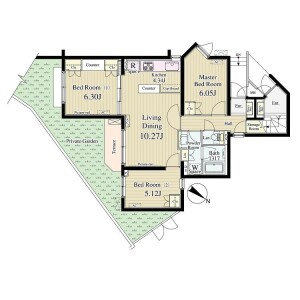 3LDK Apartment in Nozawa - Setagaya-ku Floorplan