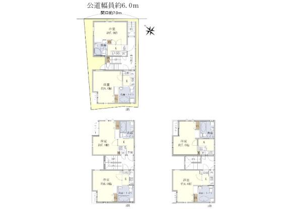 在名古屋市熱田区购买整栋 公寓的 楼层布局