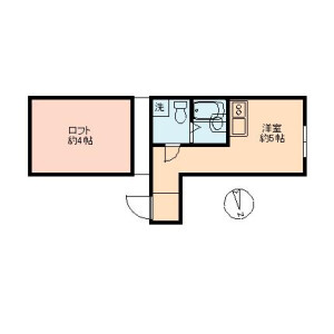 1R Mansion in Minamioi - Shinagawa-ku Floorplan