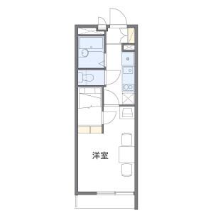 1K Mansion in Yuko - Chiba-shi Chuo-ku Floorplan
