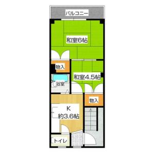 2K Mansion in Jusohigashi - Osaka-shi Yodogawa-ku Floorplan